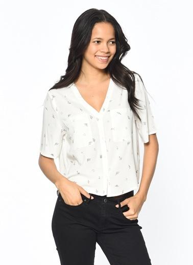 Kısa Kollu Desenli Gömlek-Only
